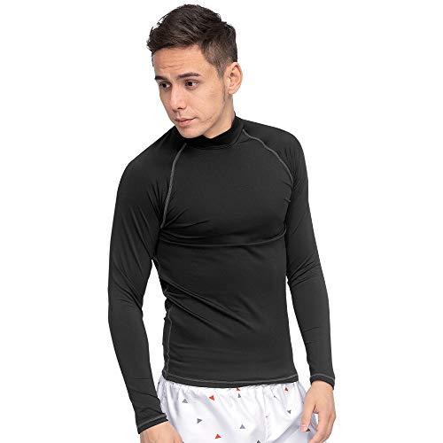 GRID SURF グライドサーフ 全15色柄 ラッシュガード メンズ 長袖 Tシャツ S-3XL 全6サイズ ロングスリーブ 男性 UVカット UPF50 + 水陸両用 ブラック 3XLサイズ
