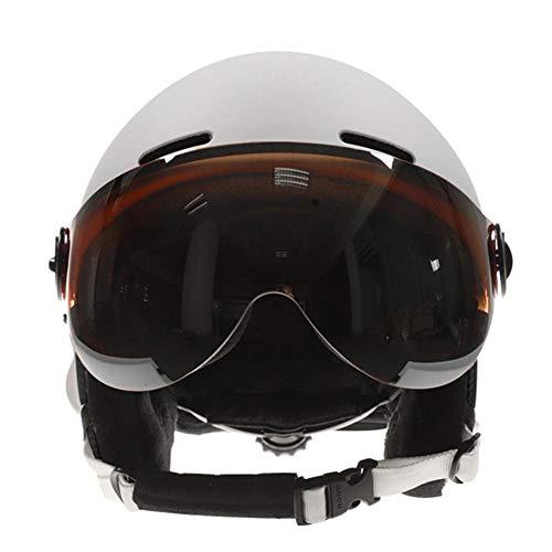 thelastplanet Skihelm Und Skibrille Set Visor Skihelm Windwiderstand Snowboard Brille Zum Skifahren Und Bergsteigen Unisex-Erwachsene
