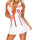 365-Shopping Damen Lingerie Dessous-Sets Babydolls Pflegeuniformen Krankenschwester Kostüm Nurse Uniforms Versuchung Cosplay Rollenspiele