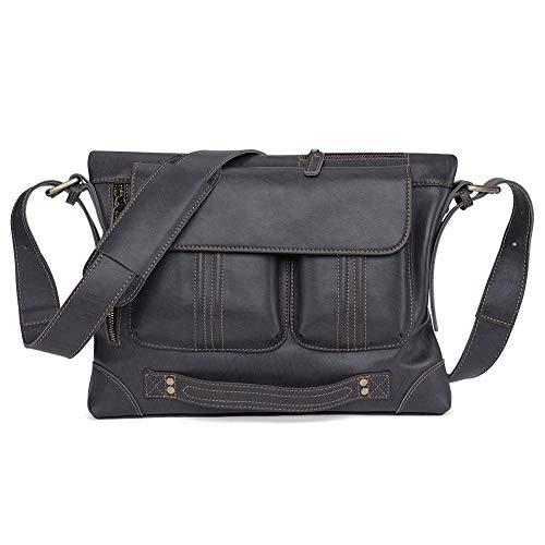 Schoudertas, modieus, voor mannen, handtassen, voor zakenreis, vrije tijd, actuele messenger-tas van leer