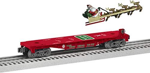 Lionel Trains - Santa's Mobile Rest Stop Flatcar, O Gauge