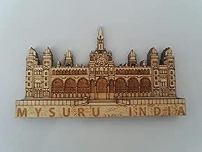 White Artisans Heritage Mysuru Palace Wood Carved Magnet (Beige, 4.5x8.5)