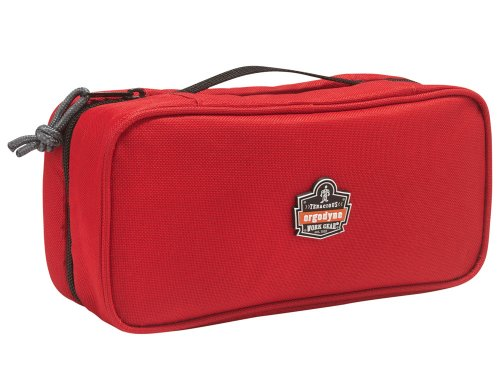 Ergodyne Arsenal 5875 Clamshell Organizer Zippered Pouches, Large, Red