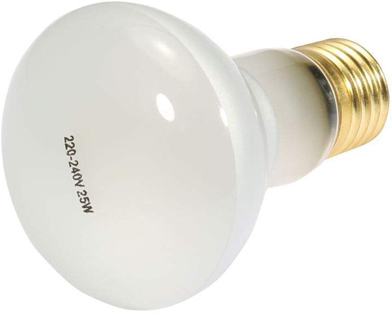 2Pack UVA Reptile Light Bulb Soft White Glow UVA Glass Cover Heat Lamp for Reptile Use(25W 40W 50W 75W 100W),75W