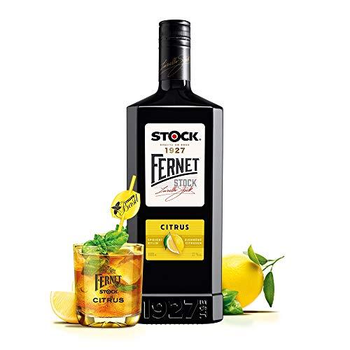 Fernet Stock Citrus Aromatischer Tschechischer Kräuterlikör mit Citrus Geschmack (1 x 1 Liter)