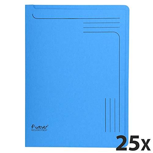 Exacompta mappen (labelveld, afgeronde hoeken, gerecycled karton, 290 g foldyne forever, DIN A4) 25 stuks. 25 Stuk Intensivblau