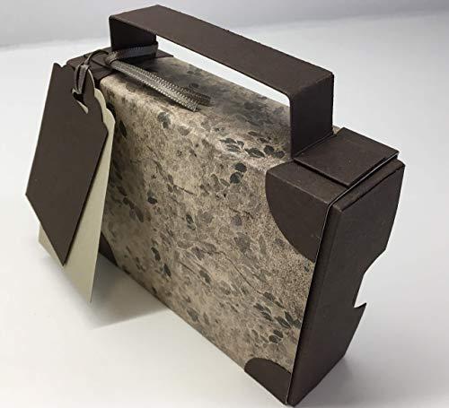 Koffer, Reisekoffer aus Papier und Karton als Geschenkverpackung für ein Geldgeschenk zum Urlaub oder für einen Reisegutschein, edel und handgemacht aus hochwertigen Materialien