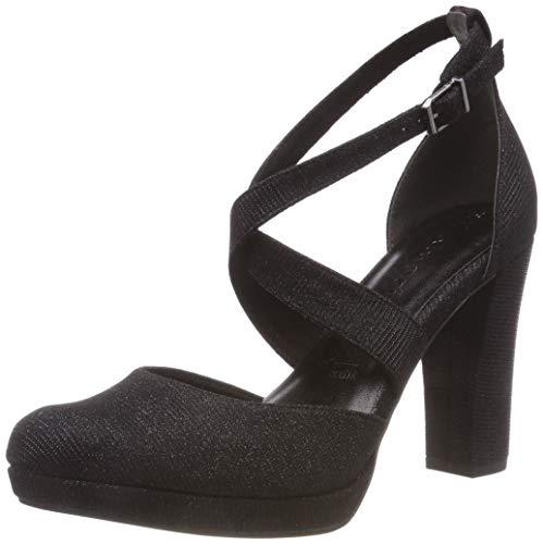 Tamaris 24416-21, Scarpe con Cinturino alla Caviglia Donna, Nero (Black Glam 43), 40 EU