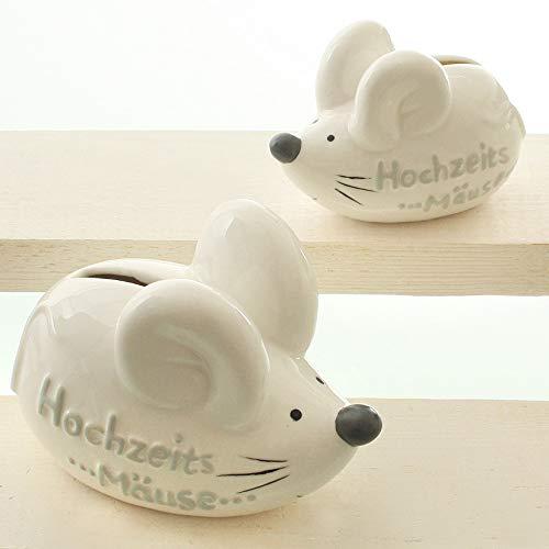 Topshop24you wunderschöne kleine Spardose Hochzeitsmäuse ,Hochzeitsgeschenk