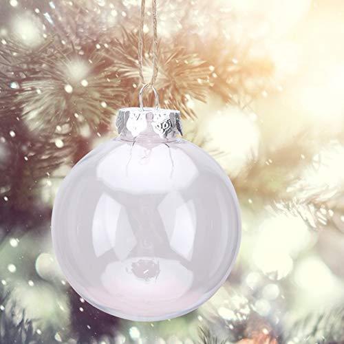 Palla di Natale appesa Ornamento Trasparente Negozio di Fai da Te Decorazione per Feste per Giardino Domestico(8CM)