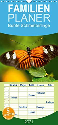 Bunte Schmetterlinge - Familienplaner hoch (Wandkalender 2021, 21 cm x 45 cm, hoch)