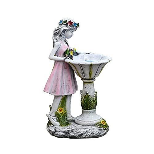 Fairy Solar Light Solar-Powered Energy Saving Resin Angel Statue Beautiful Waterproof Rustproof Decorative Figurine Lamp Automatic Ornament for Garden Backyard Home