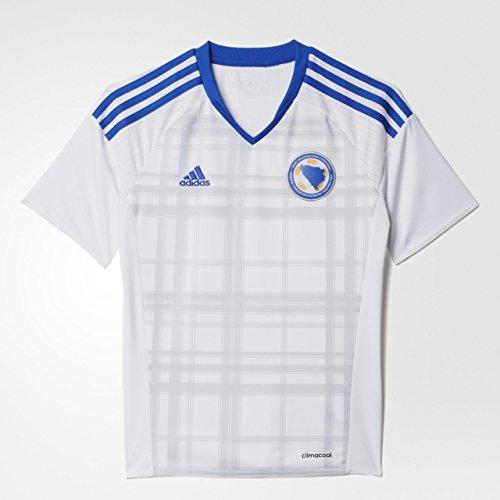 adidas Jungen Bosnien-Herzegowina Auswärtstrikot Replica - weiß Trikot, White/Boblue, 152