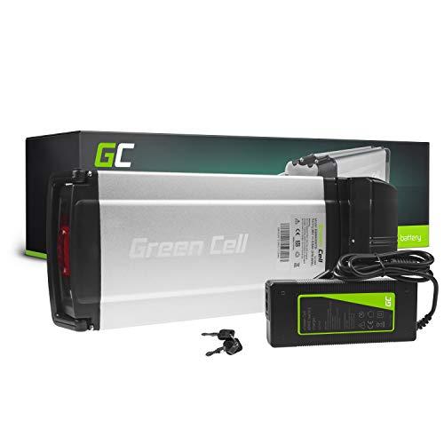 Green Cell® 24V | 36V E-Bike Akku Li-Ion Lithium-Ionen für Motor 250W Fahrradakku Pedelec Elektrofahrrad Rear Rack Gepäckträger-Akku Batterie + Ladegerät (36V 8.8Ah max 250W)