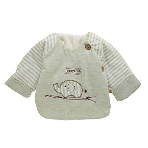 ALLAIBB ALLAIBB Neugeborenes Baby Baumwollplüsch Mantel Cartoon Swaddle Kleidung Herbst Frühling 0-3M Size F (Grün)