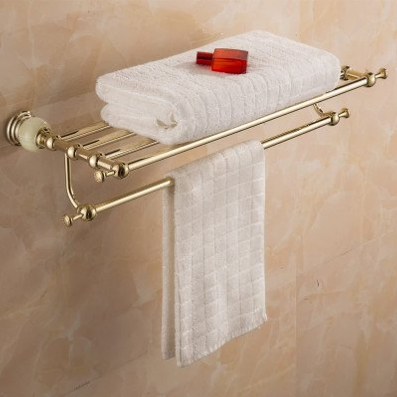 MangeooEuropische jade Bad Handtuchhalter, Handtuchhalter, Goldenen Badewanne Rack, Handtuchhalter