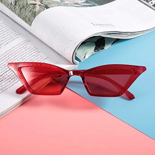 Gafas de sol Adorno agradable Resistencia a altas temperaturas Gafas de sol femeninas Familia, para oficina(Red frame)