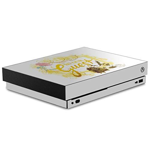 Autocollant Compatible avec Microsoft Xbox One X Sticker Film Autocollant La Belle et la Bête Princesses Disney Produit sous Licence Officielle