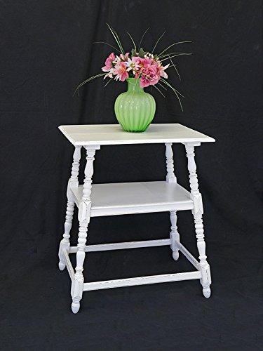 Tisch Beistelltisch Telefontisch Vintage Antik Shabby Chic Weiß B: 60 cm (8234)