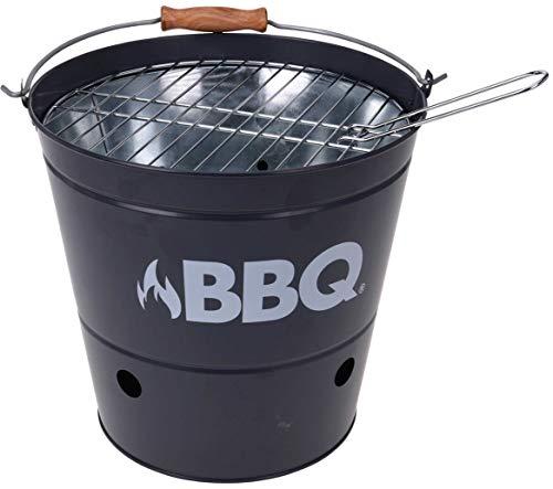 BigBuy BBQ Barbacoa de Carbon Cubo BBQ, Talla única