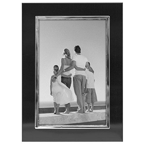 Malden International Designs Uptown Black with Silver Fashion Metal Frame, 4x6, Black