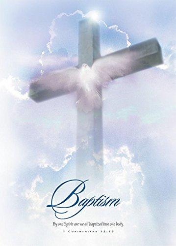 Baptism Certificate - 5x7 folded - Premium, Full Color - KJV - (Package of 6)