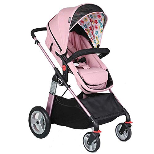 Best Deals! HZC Infant Baby Stroller for Newborn and Toddler, Compact Bassinet Stroller Baby Carriag...