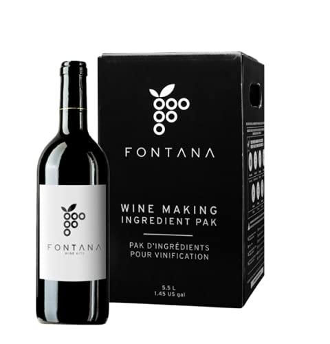 Fontana Italian Sangiovese Wine Making Kit | 6 Gallon Wine Kit | Premium Ingredients for DIY Wine Making, Makes 30 Bottles of Wine