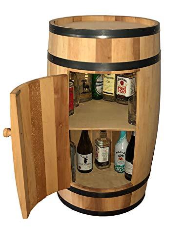 Fassregal Minibar Fassbar Holz Exklusive Fass-Bar mit Tür 80 cm Fass Regal