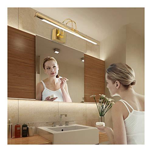 MJJ- Espejo de Baño con Iluminación LED Espejo de oro simple prueba de agua de luz LED Frente Cuarto de baño Habitación Sala luminosos 41/55 / Lámpara de pared 63cm 【Nivel de energía A +】