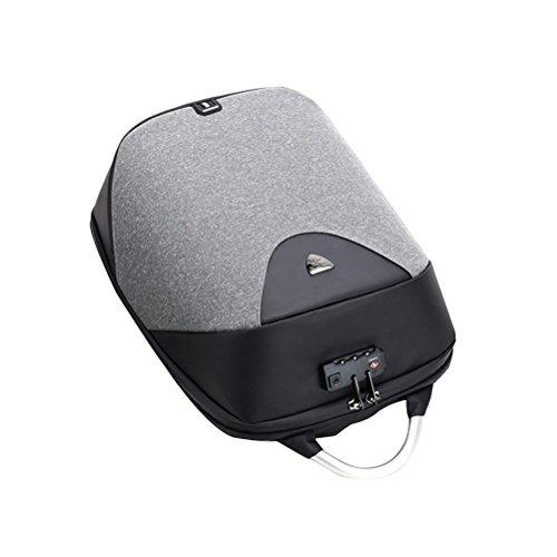 LUOEM Anti-diefstal Computer Bag Multifunctionele Schoudertas Lichtgewicht Laptop Rugzak (zwart en wit)
