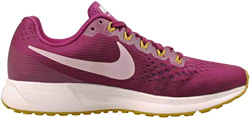 Nike Women's Air Zoom Pegasus 34 Running Shoes (True Berry Plum Chalk 607, 7)