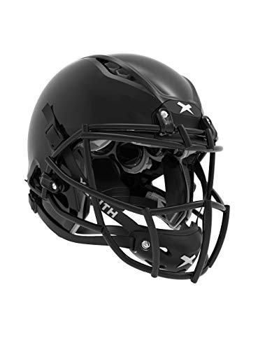 Xenith Shadow XR Youth Black Football Helmet with Facemask & Black Chin Strap