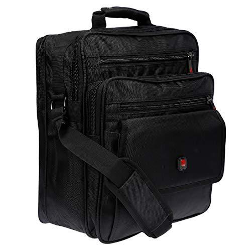 Christian Wippermann XXL Umhängetasche Flugbegleiter Herren Tasche Messenger Arbeitstasche Laptoptasche