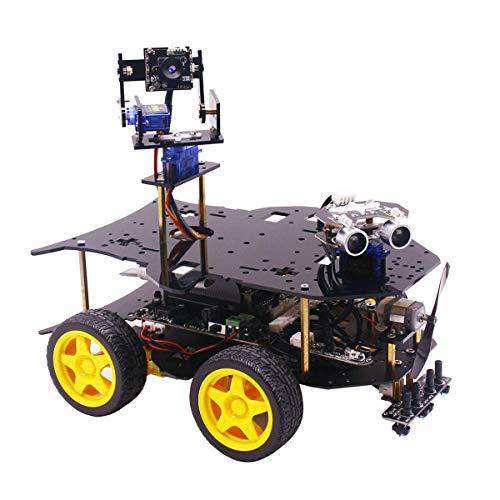 HARTI Intelligenter Roboter-Auto-Kit Ultimatives Starter-Kit Für Raspberry Pi HD-Kamera Programmierbarer Roboterauto Mit 4WD Electronics DIY-Stammspielzeug