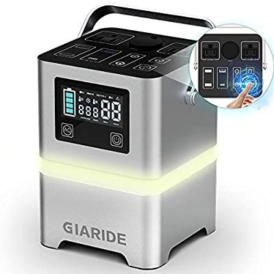 GIARIDE Portable Power Station 231wh 62500mAh Portable Outdoor Generator Emergency Battery Backup, Pure Sine Wave Solar Generator for Camping, Home, Camping, Travel, Hunting, Fishing