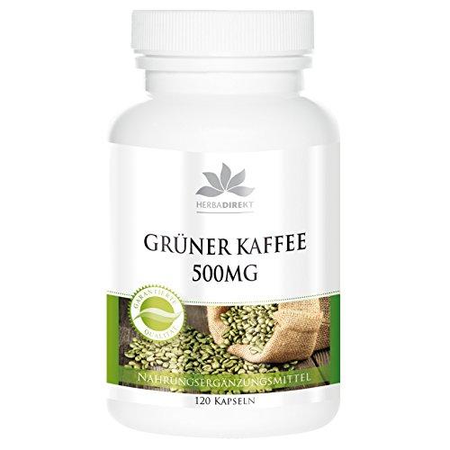 Extracto de café verde 500mg – 45% de ácido clorogénico y 3% de cafeína – Vegano – 120 Cápsulas