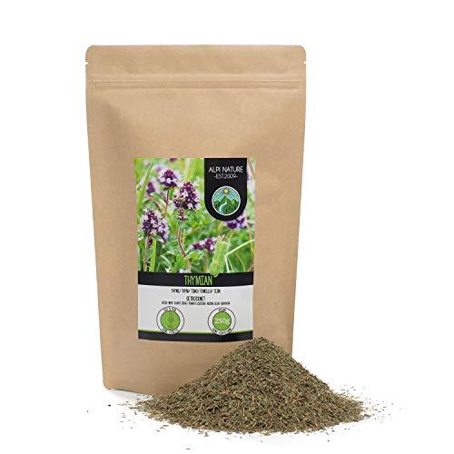 Tomillo seco (250g), Infusion de tomillo, tomillo frotado, 100% puro y natural para la preparación de mezclas de especias y té de tomillo