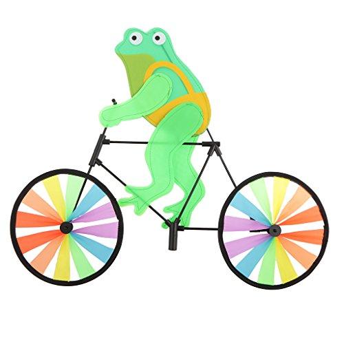 FLAMEER Tier Auf Fahrrad 3D Bunte Radstand Dekor Windmühle - Frosch