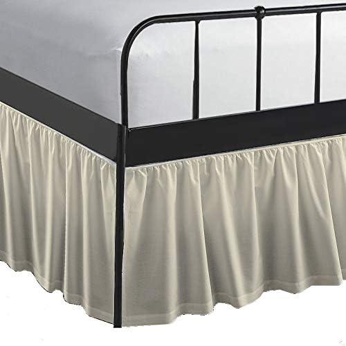 Queen's Linen Full Size 5% OFF Ruffled Skirt Cheap SALE Start Bed Ruffle Dust
