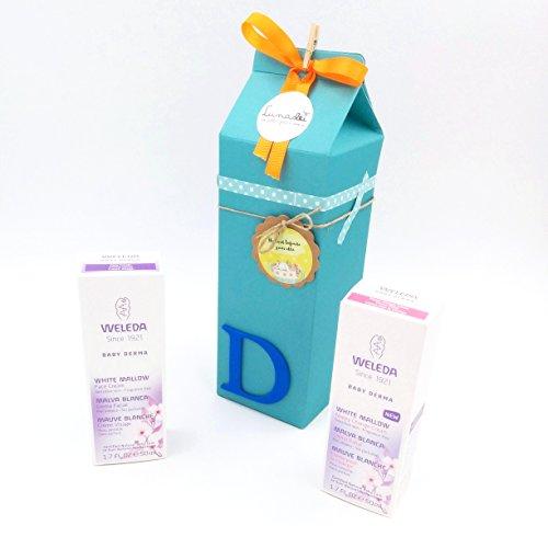 Regalo Molto Utile e Originale per Bimbi Appena Nati con Prodotti Weleda   Milk Box con due Creme della Linea \