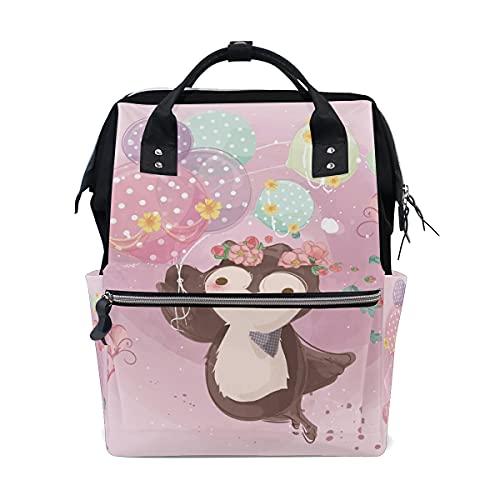 LDIYEU Perezoso Volador Rosa Bolsa Compra Reutilizables Bolsas de Mano para Trabajo Escuela Comestibles Plegables de Playa para Mujeres Niñas