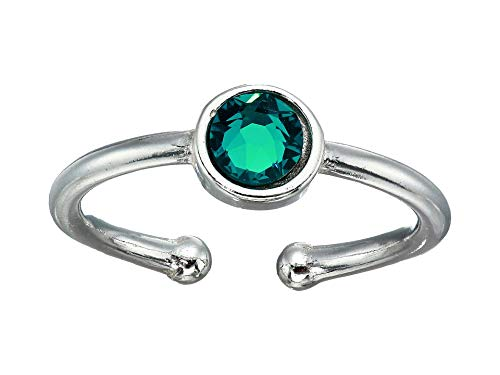 Alex and Ani December Birthstone Adjustable Ring Sterling Silver One Size