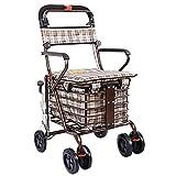 Plegable Tire del Carro con Asiento,Carro de Compras de Trolley para el...