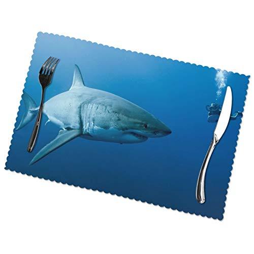 Affordable shop Oceans Shark Diver - Juego de 6 manteles individuales para...