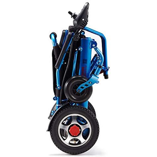AIRPUMP Elektrischer Rollstuhl Klappbar, 360 ° Joystick Lithiumbatterie 13A Doppelmotor 500W Elektro Mobilitätshilfe Elektrischer Rollstuhl, Tragbare Ältere Behinderte Hilfe Auto