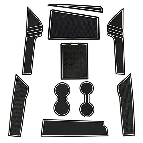 per A3 8Y 2021 Tappetini in gomma Tappetini antiscivolo 1 Kit (Bianco)