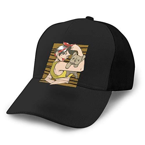 N/ Pinup Bulldog - Gorra ajustable, color negro
