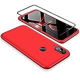 Coque pour Huawei P20 Lite Rouge 360 degrés Très Mince Tout Inclus Protection 3 dans 1 boîtier...