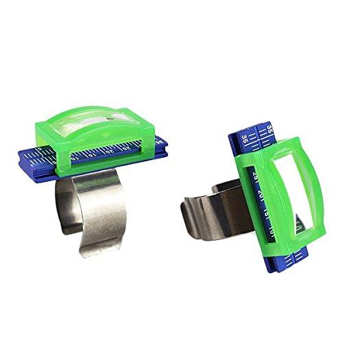 Vroegse 2 Tandheelkundige Endo Aluminium Vinger Linialen Span Schaal Endodontische w/Vergrootglas